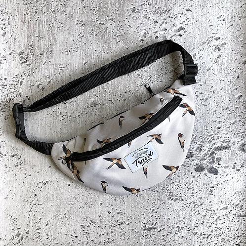Поясная сумка TRAVEL ласточки белые