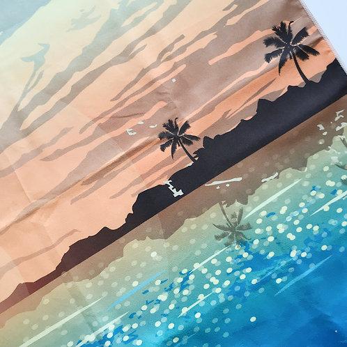 полотенце для путешествия микрофибра компактное принт пляж