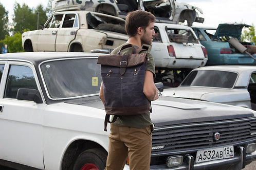 Рюкзак крафтовый роллтоп N201 серый