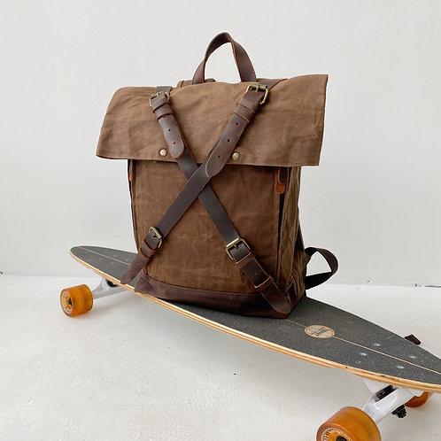 Рюкзак крафтовый роллтоп N203 коричневый