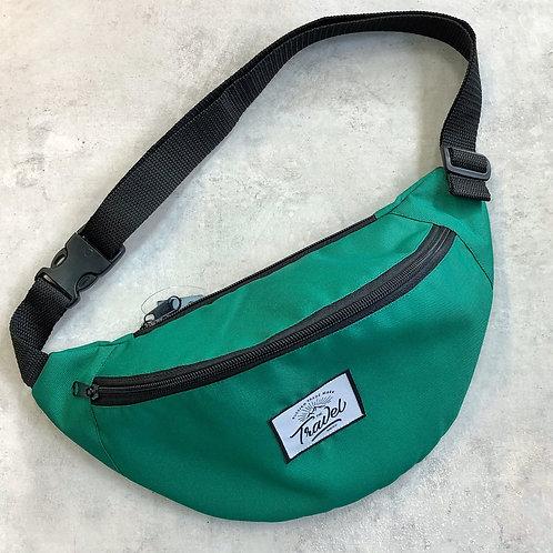 Поясная сумка TRAVEL зеленая изумруд