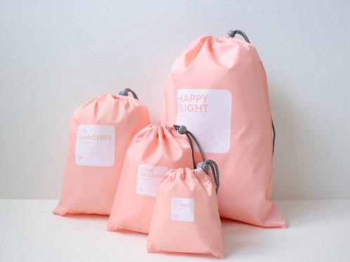Набор мешочков для багажа розовый