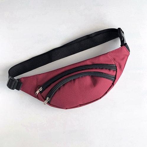Поясная сумка Бордовая
