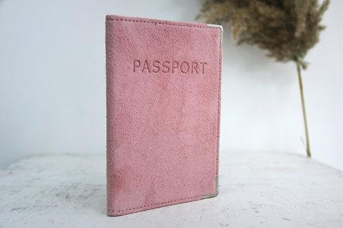 Обложка замшевая Светло-розовая