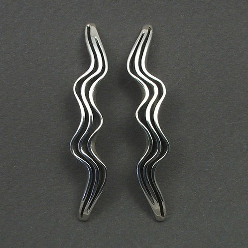 Wave earrings long
