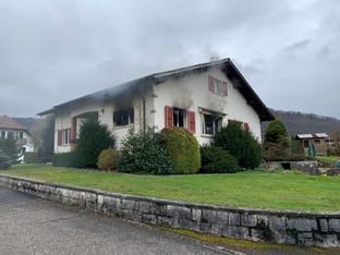 Einfamilienhaus an der Mittelstrasse in Büsserach brannte – niemand verletzt