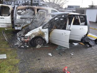 Luterbach: Mehrere Autos durch Brand beschädigt