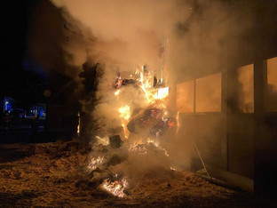 Brand in Pferdeanlage: War es Brandstiftung?