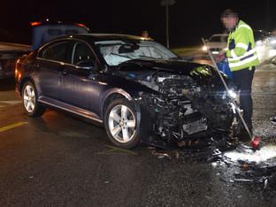 Biberist: Zwei Personen bei Autounfall leicht verletzt