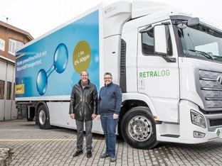 Wolfwil: Erster Wasserstoff-Lastwagen für die Post im Einsatz