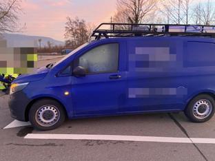 Hunzenschwil: Velo übersehen, weil Scheiben beschlagen waren