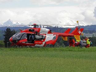 Gerlafingen: Mann bei Arbeitsunfall verletzt - viele Rettungskräfte im Einsatz