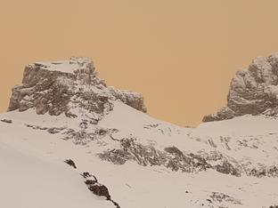 Winter 2020/21: Vom Schneechaos im Mittelland bis zum Sahara-Staub im Februar