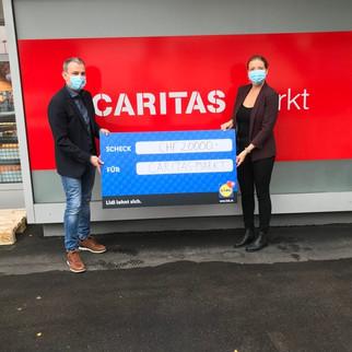 Lidl Schweiz spendet Caritas-Markt 20'000 Franken