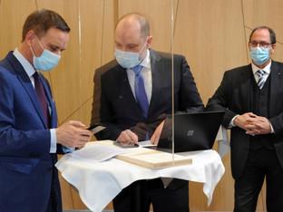 Regierungsrat Gallati eröffnet das erste Elektronische Patientendossier der Schweiz