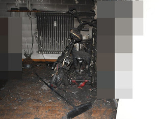 Oberentfelden: Elektro-Scooter brannte