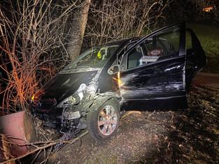 Obersiggenthal: Unfall einer 66-jährigen Autofahrerin unter Alkohol
