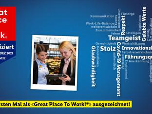 Lidl Schweiz zum ersten Mal als Great Place to Work ausgezeichnet