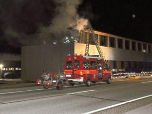Bettlach: Brand an Fassade und Dachkonstruktion eines Neubaus