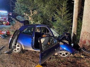 Hessigkofen: 60-jährige Autofahrerin bei Kollision mit Baum tödlich verletzt