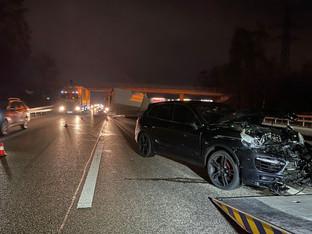 Derendingen: Verkehrsunfall auf A1 führt zu Verkehrsbehinderungen – niemand verletzt
