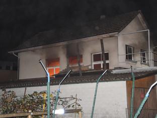 Balsthal: Brand in unbewohntem Einfamilienhaus