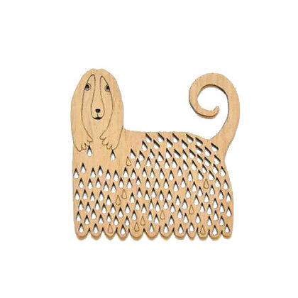 木製オーナメント:THE DOG OF RAIN