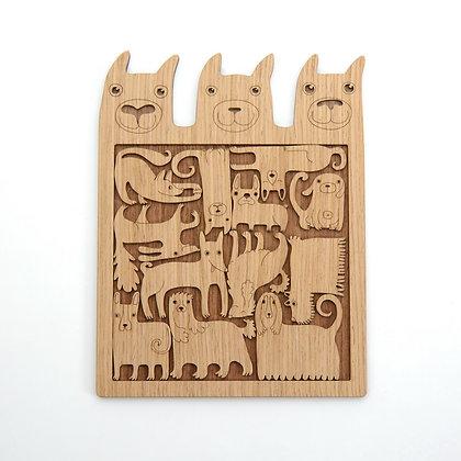 木製パズル:LOVING DOGS