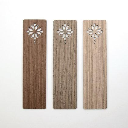 木製ブックマーク(しおり):BLOSSOMING IN FOUR - Etno Design