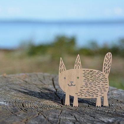 木製オーナメント:CAT OF THE SPARKLING SEAS - Etno Design