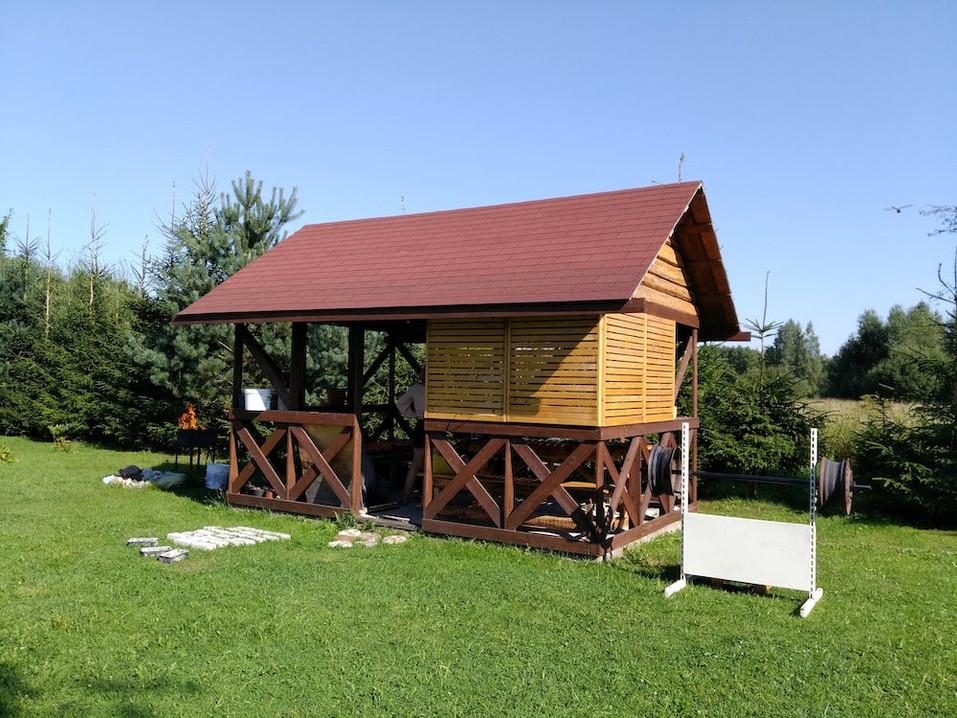 田舎の風景 - お庭のテラス