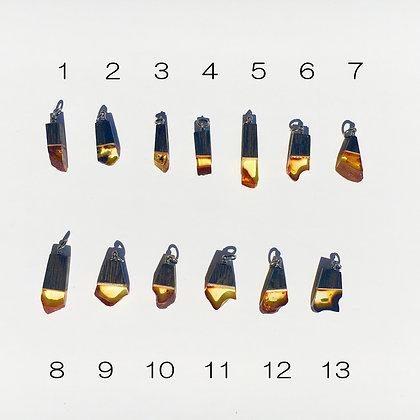 バルト海の琥珀アクセサリー:ペンダントトップA(Sサイズ)