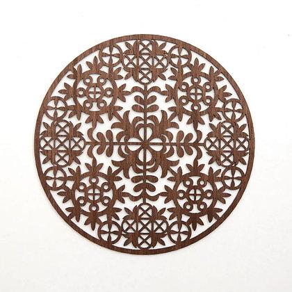 木製ポットマット:CIRCLE OF SONGS