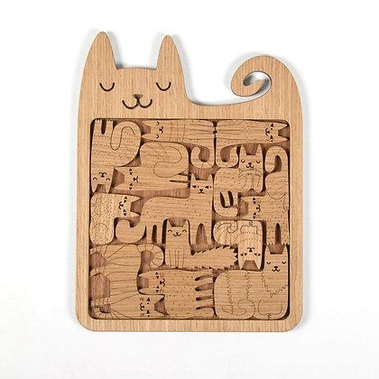 木製パズル:HAPPY CATS
