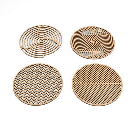 木製コースター:FOUR ELEMENTS OF CREATION