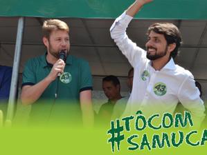 Tutuca participa de comício com Samuca em Volta Redonda