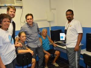 Visitando as comunidades de Marcílio Dias e Kelson's