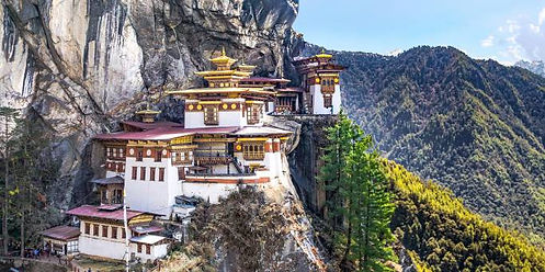 Close-up-of-Tigers-Nest-Monastery--Bhuta