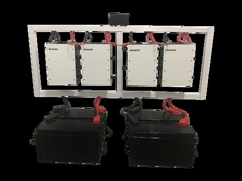Hybrydowy magazyn energii 48V 7,7kWh fotowoltaika off-grid / hybrid