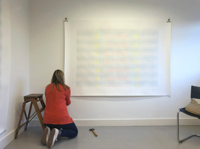 Anna Mossman in her studio