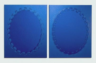 Blue Bleu (diptych), Jane Harris, 2014