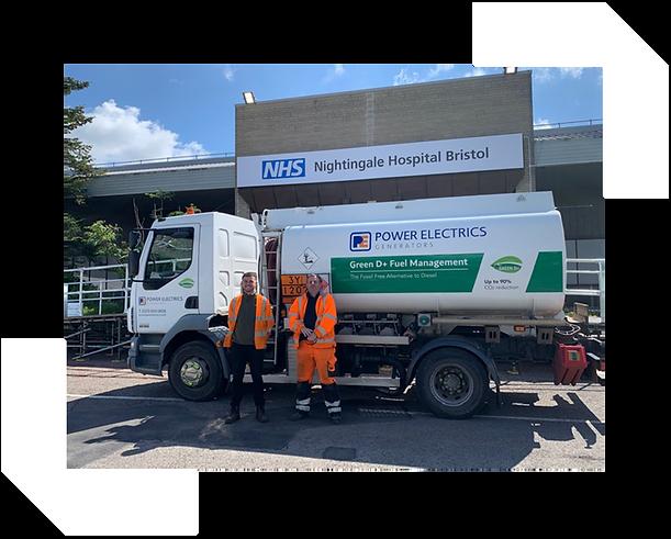 GreenD+ fuel used to power NHS Nightingale Hospital Bristol