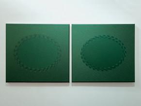 Vers Vert (diptych), Jane Harris, 2014