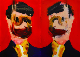 Jack Tierney, 'The Reconstruction of a Dandy (Side A and B)', oil and acrylic on perspex