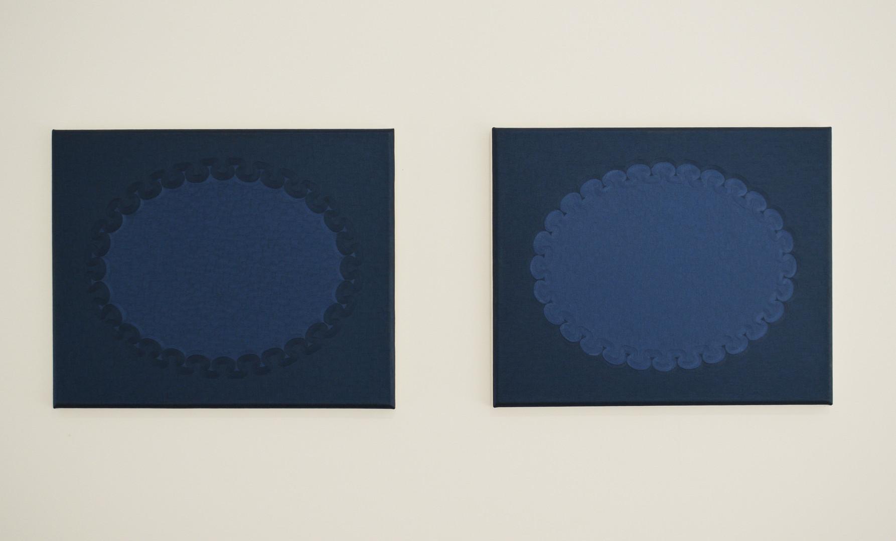 Jane Harris, 'Yonder (Diptych)', Oil on