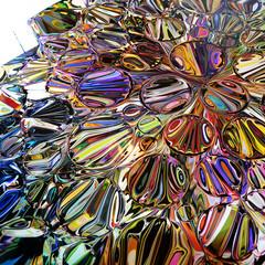 Solaris indigo lacquer (detail), Chuck Elliott