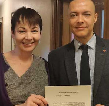 News, Caroline Lucas, Clive Lewis, Green Biofuels welcome New Green Deal