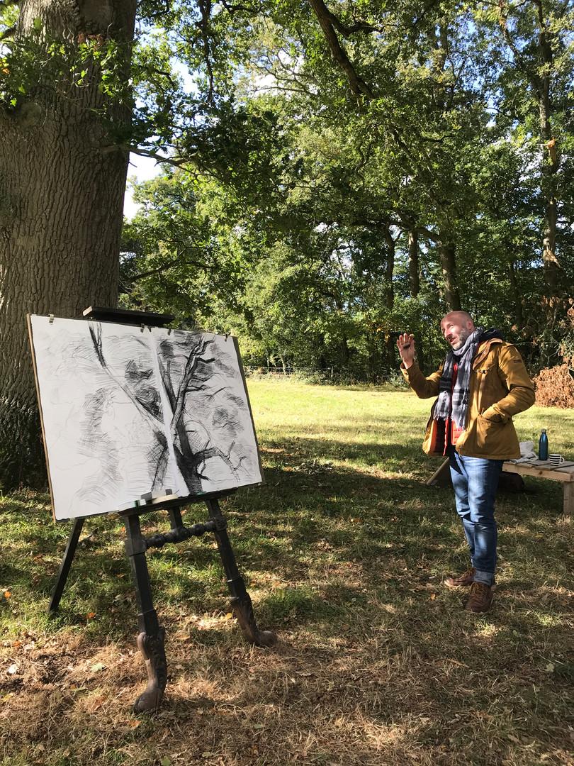 Artist Paul Newman during Somerset Open Studios 2020