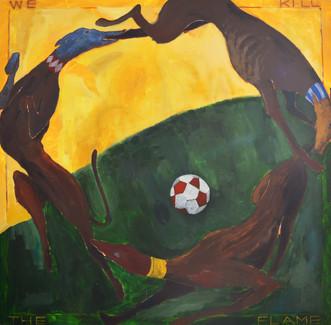 Jack Tierney, 'Feast' Oil, Acrylic and Spray Paint on Canvas