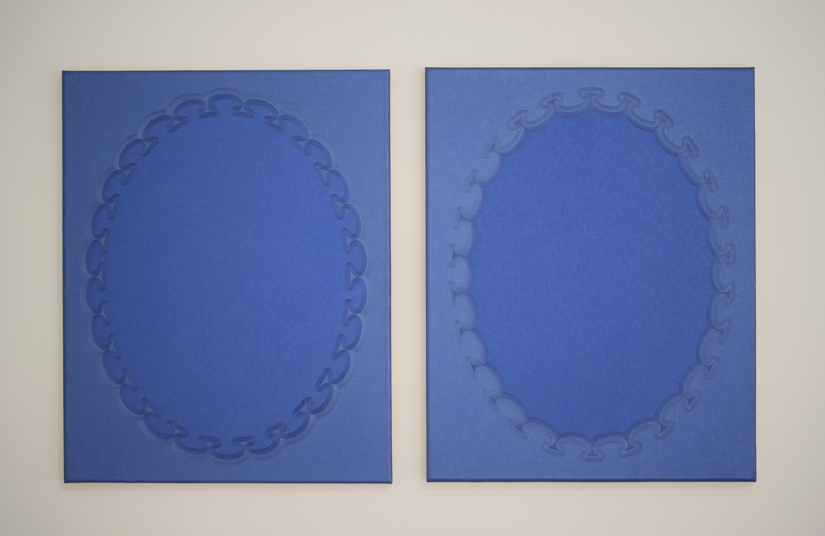 Jane Harris 'Blue Bleu' (diptych) 2013 1